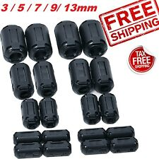 Ferrite Ring Core Bead Clamp Choke Coil RFI EMI Noise Filter Clip-On 5 Size 20pc