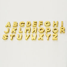 26pcs 8MM Gold Slider letters Charm A-Z Fit For DIY Name Pet Collar slider charm