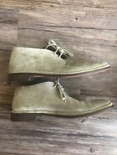JOHN VARVATOS U.S.A. Grey SUEDE LACE UP Chukka BOOTS MENS 7.5