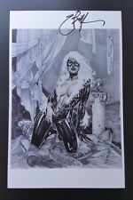 EBAS SEXY BLACK CAT Fine Art Print 11x17 Signed Eric Basaldua Spider-man SDCC