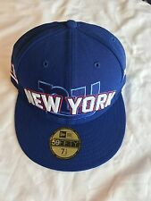 New York Giants Draft hat by New Era - 59Fifty Blue Cap Mens Size 7 1/2 NWT NFL