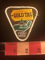 Vtg Farmer Related GOLD TAG FERRY MORSE SEEDS Advertising Patch 01AJ