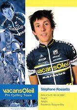 CYCLISME carte cycliste STEPHANE ROSSETTO équipe VACANSOLEIL