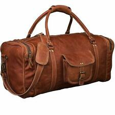 Bag Leather Travel Luggage Gym Genuine Duffel Vintage Men Weekend S Overnight