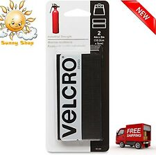 "Velcro 2 Pack 90199 2"" x 4"" Black Velcro Industrial Strength Strips"