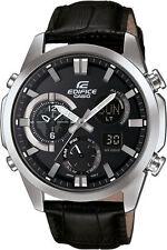 Casio Edifice ERA500L-1A Analog Digital with Black Leather Band Watch