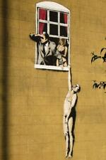 Banksy Naked Man Hanging From Window Mural inch Poster 36x54 inch