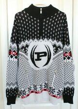 Phat Farm Sweater Black White Fair Isle Winter Pullover Sweater Size XXL 2XL