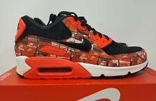 "Nike Air Max 90 Print AQ0926-001 Black Crimson White Mens ""We Love Nike"" Sz 10.5"