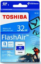 TOSHIBA 32GB FlashAir W-04 Wireless WiFi SDHC SD Memory Card UHS-I U3 4K Class10