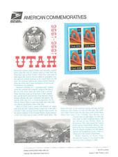 #477 32c Utah Statehood #3024 - USPS Commemorative Stamp Panel