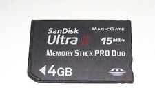 Genuine Sandisk 4GB Sony PSP Memory Stick Pro Duo Memory Card Camera Ultra II