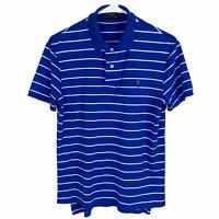 Polo Ralph Lauren Pima Soft Touch Polo Shirt Small Blue White Striped S/S Cotton