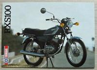 YAMAHA RXS100 MOTORCYCLE Sales Specification Leaflet 1986 #LIT-3MC-0107953-86E