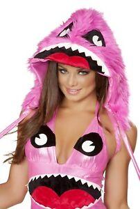 J. Valentine Faux Fur Pink Monster Hood Costume Accessory JJ179 ~ SALE