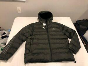 NWT $150.00 Adidas Mens Terrex Itavic 3-Stripe 2.0 Jacket Green Size LARGE