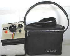 Polaroid SX-70 Rainbow OneStep Instant Film Camera +Polaroid Case TESTED