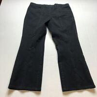 "Isaac Mizrahi Live Size 16 Black Bootcut Crop 27"" Inseam Pants A1236"
