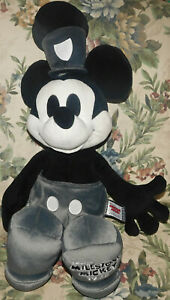 "Disney Steamboat Willie Milestone Mickey Limited Edition Large 25"" Stuffed Toy"