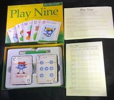 """PLAY NINE """"THE CARD GAME OF GOLF""""  Ages 8+, 2-6 Players New Sealed Decks Golfer"""