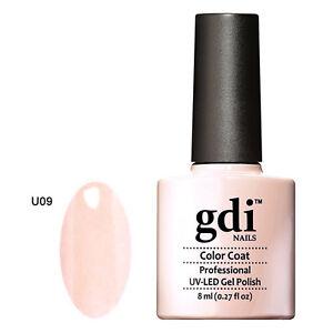 GDI NAILS - U09 PALE PUFF PINK - SUBTLE NUDE - UV LED GEL NAIL POLISH VARNISH