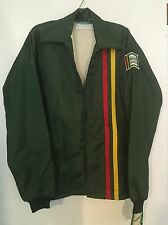 NOS Vtg IMC Rainbow Green w Patch Logo Zip Up Jacket by Holloway Farming Hipster