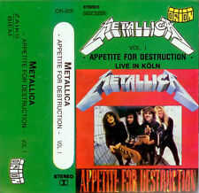 METALLICA 2 TAPE Appetite For Destruction Live In Koln & GARAGE $5.98 + FREE CD