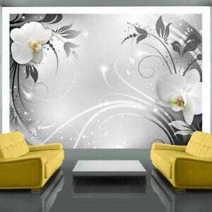 Wall Mural Silver Orchids 210cm x 300cm Wallpaper NEW (L)