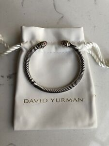 David Yurman Cable Classic Bracelet with Pink Morganite and 14K Gold 5mm