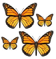 Set 4x sticker decal car laptop macbook kitchen butterfly yellow room funny