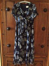 Designer/ Betty Barclay Navy Floral Summer Dress UK14