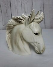 Vintage Lefton White Horse Head Vase Planter H1953