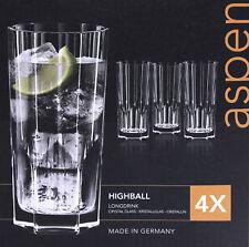 4x Nachtmann Aspen Longdrinkglas Trinkglas 309 ml Whiskyglas Glas Kristallglas