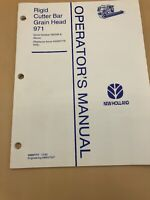 New Holland 971 Grain Header Operator's Manual for TR75 TR76 TR85 TR86 TR95 TR96