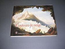 Montagne peinture neige Album  Exposition couleurs de neige illustré couleurs