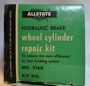 All State Hydraulic Wheel Cylinder Repair Kit Part # 2160 Sears & Roebuck Co.