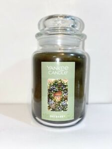☆☆BAYBERRY☆☆LARGE YANKEE CANDLE JAR☆☆ FRESH SCENT☆☆FREE EXPEDITED SHIPPING