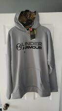 Under Armour Men's Armour Fleece Stacked Hoodie size large 1313751 039