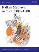 Italian Medieval Armies 1300-1500 No. 136 by David Nicolle (1983, Paperback)