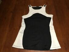 Country Road Women's Active II Sports Top, Size M, Black And White