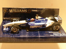 Minichamps 1:43 juan pablo montoya williams bmw launch voiture F1 2002
