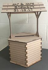 Y53 XLarge - *PERSONALISED* WISHING WELL Large Wedding MDF Sweet Treat Cart