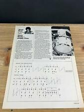 1985 Vintage 1 Page Print Article Drum Beat With Drummer Chris Slade Of The Firm