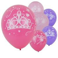 Set Of 9 DISNEY PRINCESS CROWN 12'' Latex Party Balloons Decoration.