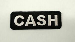 Johnny CASH Patch Iron/Sew on Outlaw Country Music Patch Embroidered Haggard