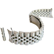 18mm Hadley-Roma MB4216 Solid Link Jubilee Stainless Steel Watch Band Bracelet
