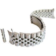 18mm Hadley-Roma MB4216 Solid Link Jubilee Stainless Steel Watch Band Bracelet