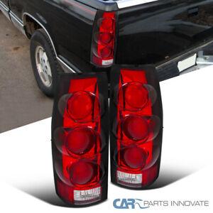 Chevy GMC C/K C10 88-98 Silverado Sierra 3D Rear Red Lens Brake Tail Lights Pair