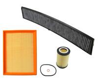 Air Filter Oil Filter AC Cabin Filter Carbon BMW E46 323i 325i 328i 330i X3