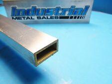"3/4"" x 1-1/2"" x 12""-Long x 1/8"" Wall 6063 T52 Aluminum Rectangle Tube-->3 Pack"